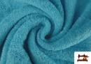 Vente de Tissu pour Serviettes avec Boucle Américaine de Couleur Beige Sable couleur Bleu turquoise