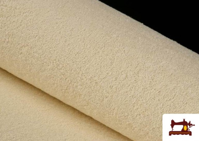Acheter en ligne Tissu pour Serviettes avec Boucle Américaine de Couleur Beige Sable couleur Écru