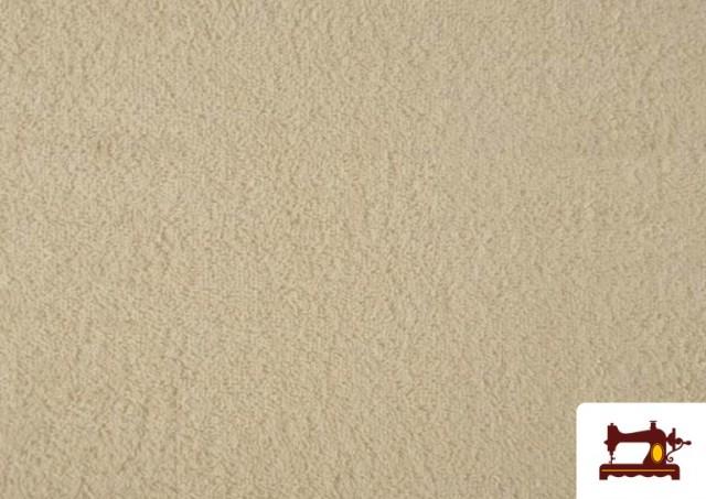 Vente en ligne de Tissu pour Serviettes avec Boucle Américaine de Couleur Beige Sable couleur Écru