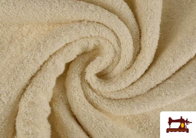 Tissu pour Serviettes avec Boucle Américaine de Couleur Beige Sable couleur Écru