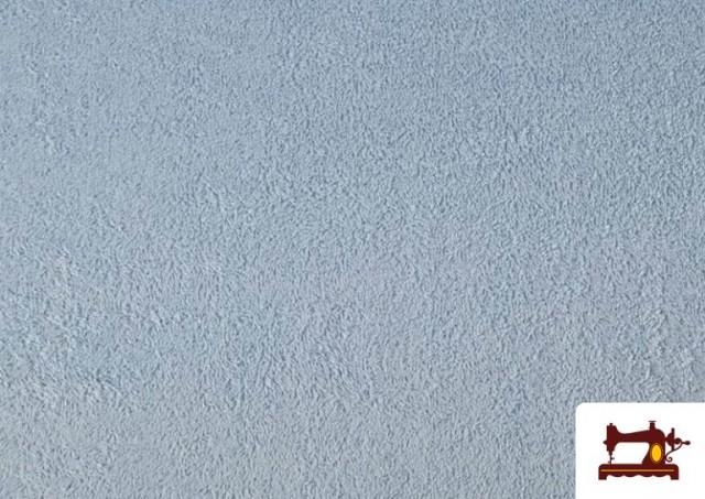 Acheter en ligne Tissu pour Serviettes avec Boucle Américaine de Couleur Beige Sable couleur Bleu