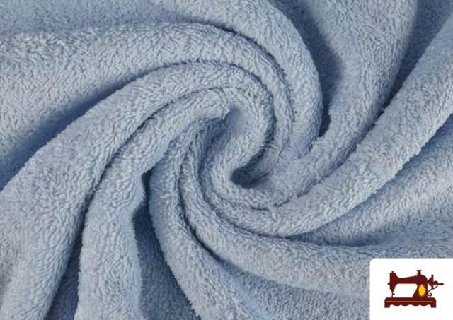 Vente en ligne de Tissu pour Serviettes avec Boucle Américaine de Couleur Beige Sable couleur Bleu