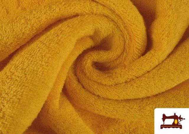 Tissu pour Serviettes avec Boucle Américaine de Couleur Beige Sable couleur Jaune