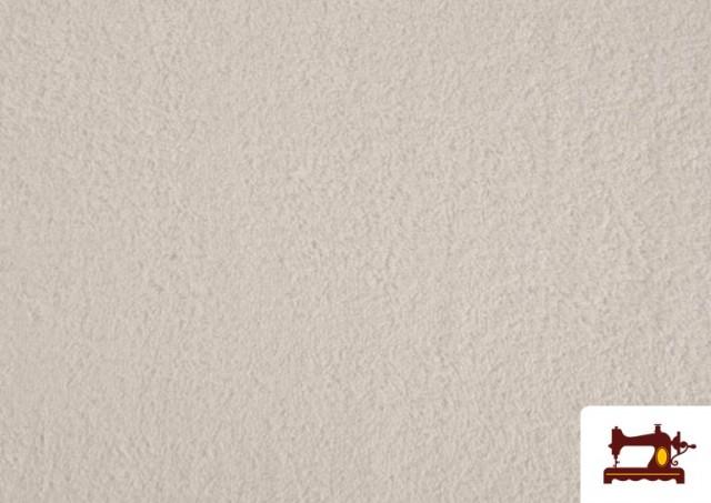 Vente de Tissu pour Serviettes avec Boucle Américaine de Couleur Beige Sable couleur Blanc