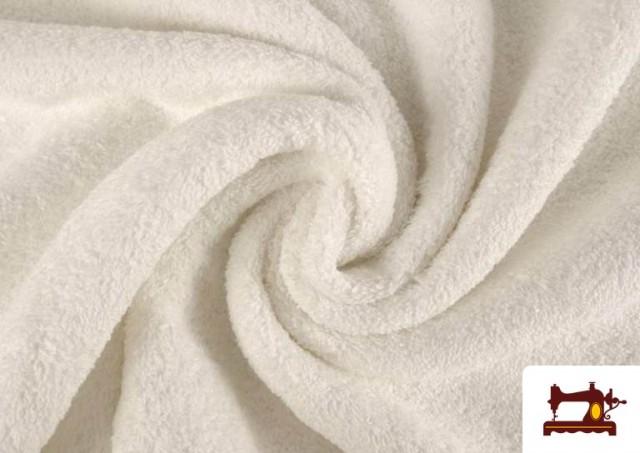 Acheter en ligne Tissu pour Serviettes avec Boucle Américaine de Couleur Beige Sable couleur Blanc