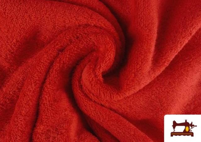 Tissu pour Serviettes avec Boucle Américaine de Couleur Beige Sable couleur Rouge
