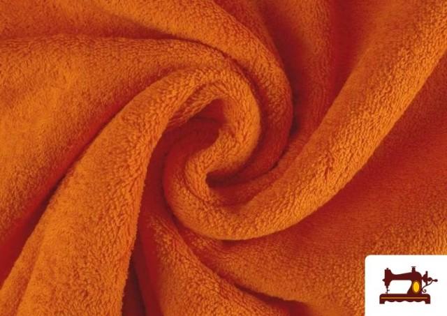 Vente de Tissu pour Serviettes avec Boucle Américaine de Couleur Beige Sable couleur Orange