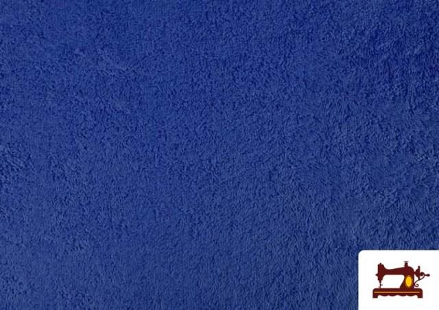 Acheter en ligne Tissu pour Serviettes avec Boucle Américaine de Couleur Beige Sable couleur Bleu Cobalt