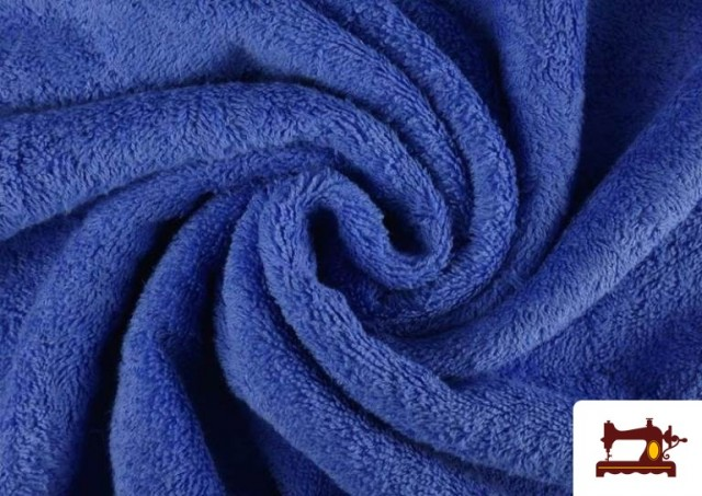 Tissu pour Serviettes avec Boucle Américaine de Couleur Beige Sable couleur Bleu Cobalt
