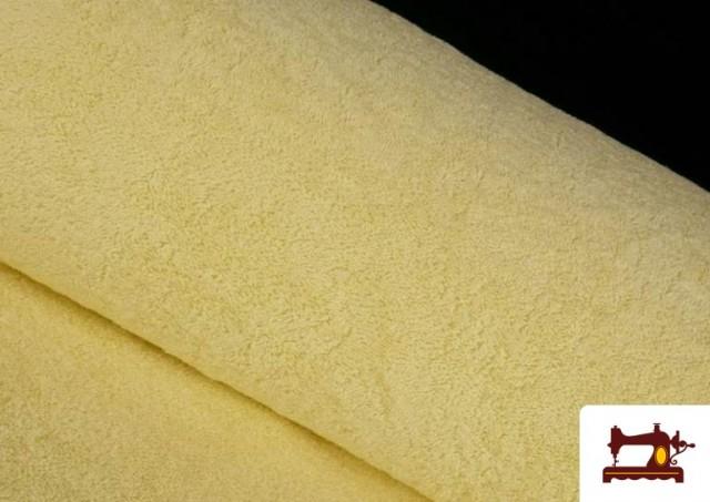 Tissu pour Serviettes avec Boucle Américaine de Couleur Beige Sable couleur Champagne