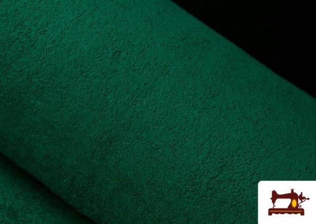 Vente de Tissu pour Serviettes avec Boucle Américaine de Couleur Beige Sable couleur Vert Bouteille