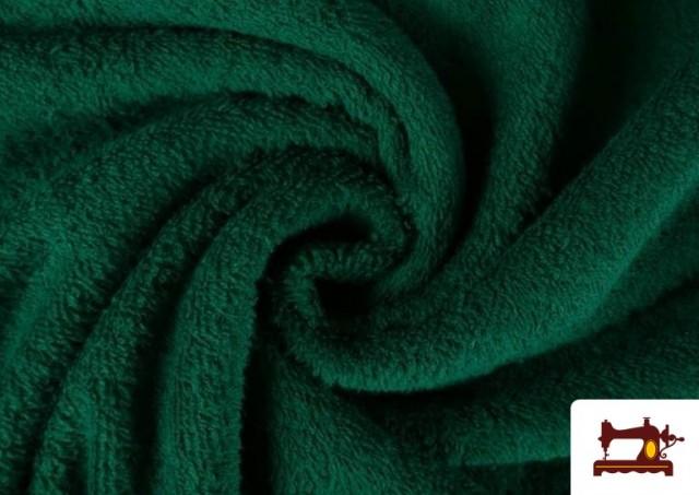 Vente en ligne de Tissu pour Serviettes avec Boucle Américaine de Couleur Beige Sable couleur Vert Bouteille