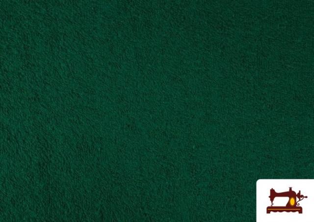 Acheter en ligne Tissu pour Serviettes avec Boucle Américaine de Couleur Beige Sable couleur Vert Bouteille
