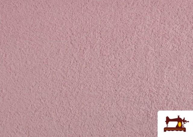 Tissu pour Serviettes avec Boucle Américaine de Couleur Beige Sable couleur Rose pâle