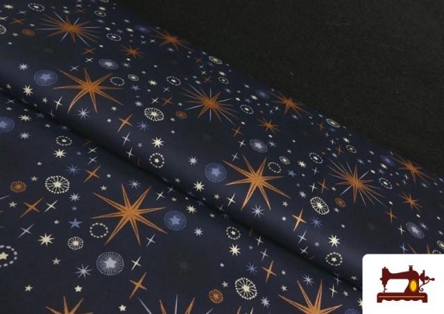 Tissu en Coton avec Imprimé Ciel Étoilé de Noël