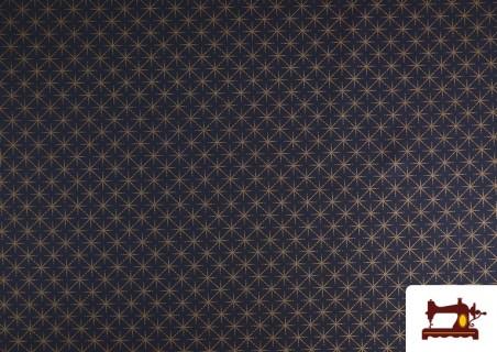Tissu en Coton Imprimé avec Étoiles de Couleur Cuivre