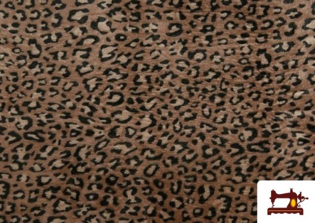 Tissu en Coraline Polaire Douce avec Imprimé Léopard