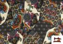 Acheter copy of Tissu en Lycra Imitation Écailles de Poisson couleur Bleu