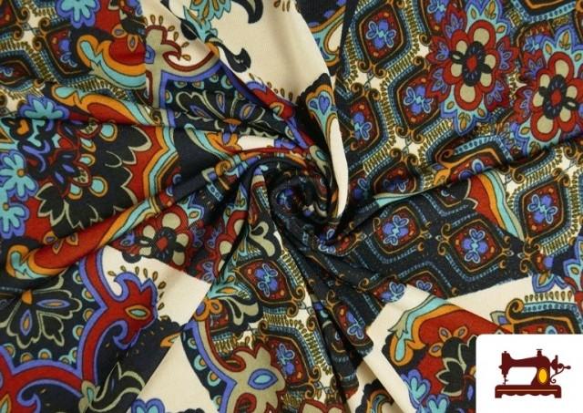 Vente en ligne de copy of Tissu en Lycra Imitation Écailles de Poisson couleur Bleu