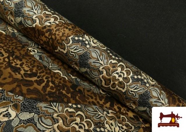 Acheter copy of Tissu en Lycra Imitation Écailles de Poisson couleur Brun