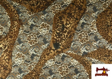Vente de copy of Tissu en Lycra Imitation Écailles de Poisson couleur Brun