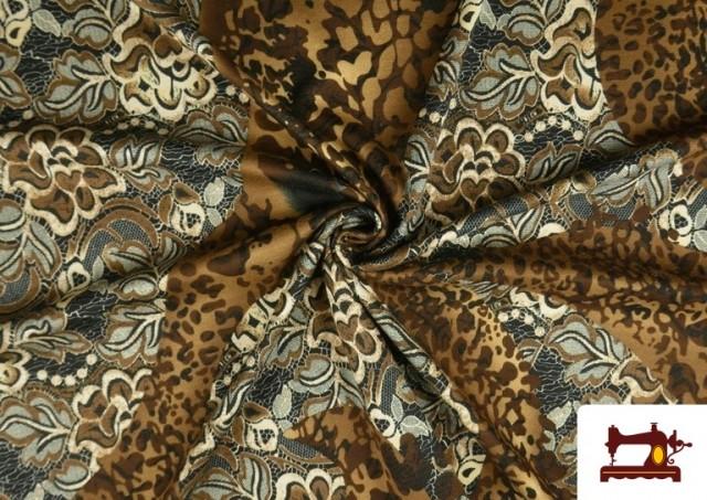 copy of Tissu en Lycra Imitation Écailles de Poisson couleur Brun