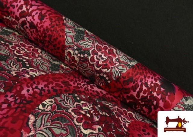 copy of Tissu en Lycra Imitation Écailles de Poisson couleur Rubis