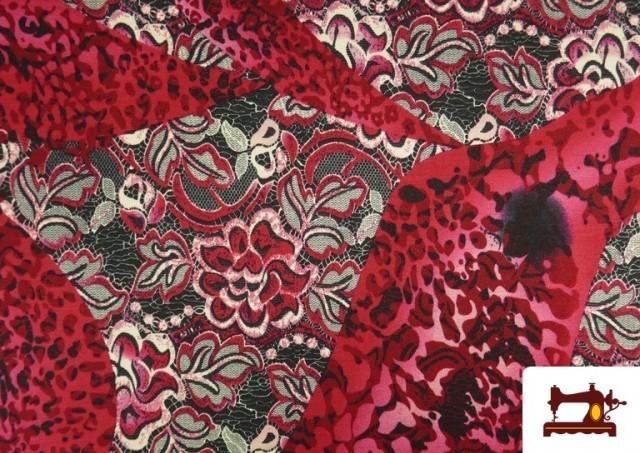 Acheter copy of Tissu en Lycra Imitation Écailles de Poisson couleur Rubis