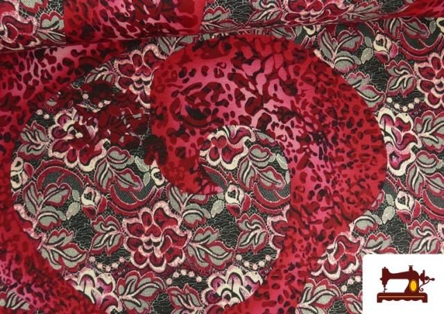 Vente de copy of Tissu en Lycra Imitation Écailles de Poisson couleur Rubis