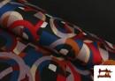 copy of Tissu Style PuntRoma avec Imprimé Gris