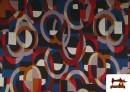 Vente de copy of Tissu Style PuntRoma avec Imprimé Gris