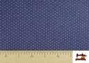 Vente de Tissu Texan avec Imprimé Géométrique Triangles couleur Bleu