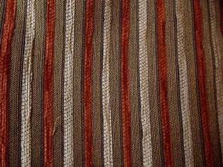 Tissu de Chenille en Velours avec Rayures