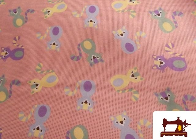 Tissu en Coton pour Patchwork Imprimé Chat