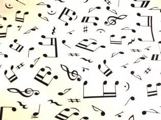 Tissu avec Notes de Musique