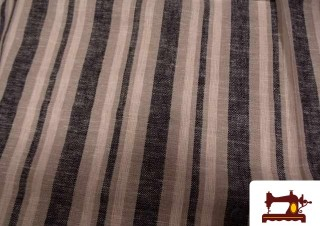 Tissu en Lin Imprimé Rayures
