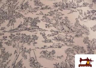 Tissu en Lin avec Imprimé Romantique Toile du Jour