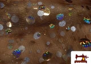Tissu pour Costumes avec Pois Holographiques