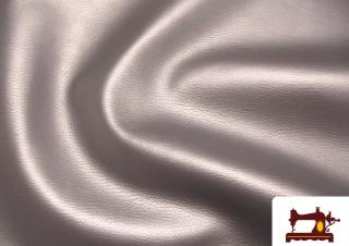 Tissu en Simili Cuir Argenté