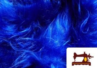 Tissu à Poil Long Bleu Électrique