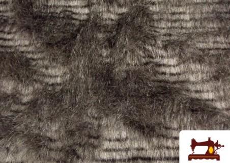 Tissu à Poil Imitation Peau Naturelle Tacheté
