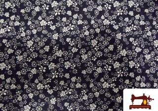 Tissu en Jeans avec Imprimé Fleurs