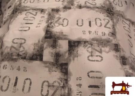 tissu pour rideaux avec imprime lettres graffity