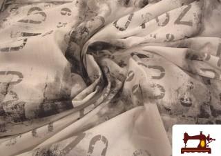 Tissu pour Rideaux Imprimé avec Chiffres