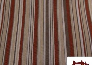 Tissu de Canvas avec Rayures Marrons Imperméable