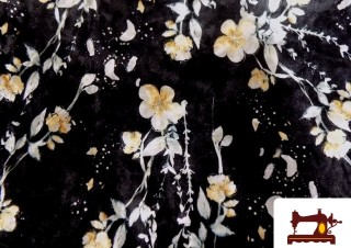 Tissu en Velours Imprimé Fleurs