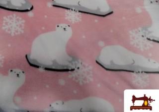 Tissu Polaire Imprimé avec Ours