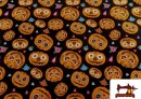 Acheter Tissu Imprimé avec Citrouilles de Halloween
