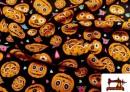 Vente de Tissu Imprimé avec Citrouilles de Halloween