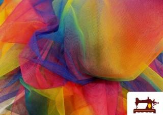 Tissu en Tulle Fantaisie Imprimé Chatoyant Multicolore